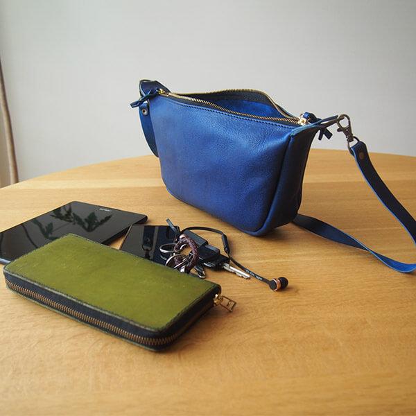 レザークラフト型紙_スッキリデザインのショルダーバッグ