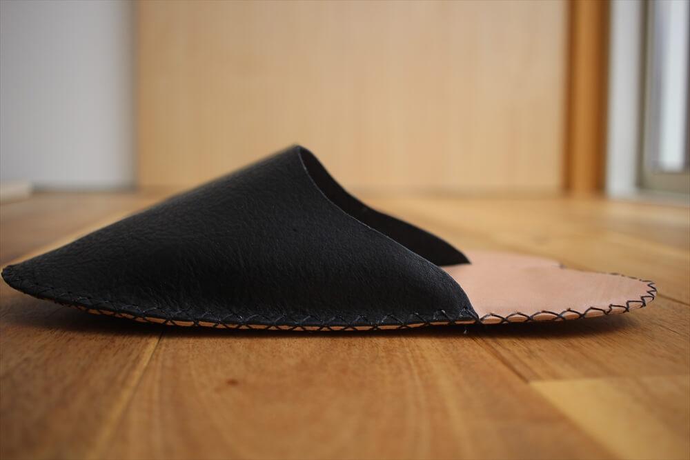 革のスリッパレザークラフト型紙 (1)
