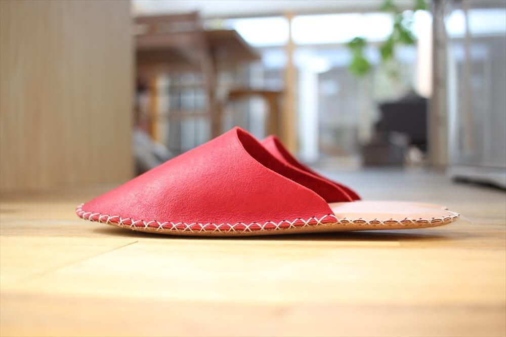 革のスリッパレザークラフト型紙 (5)