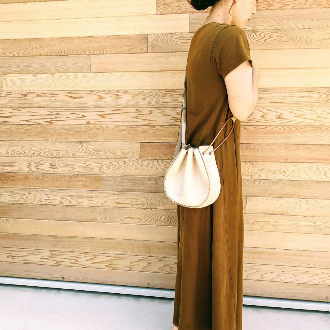 021_丸い革の巾着ショルダーバッグ_レザークラフト型紙