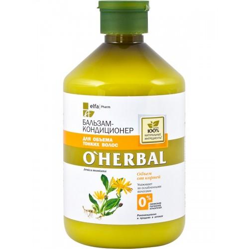 Balsam volum si elasticitate pentru par subtire, 500ml, O'Herbal
