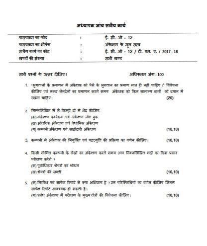 ECO-12 Solved Assignment Hindi Medium 2018 FREE IGNOU BCOM