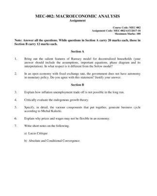 MEC-002 Solved Assignment For IGNOU MA Economics Solution In PDF