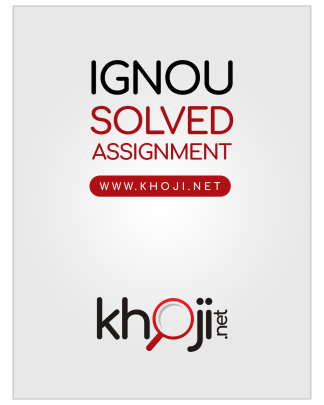 IGNOU Solved Assignments FREE in PDF