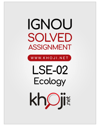 LSE-02 Solved Assignment 2019 Ecology