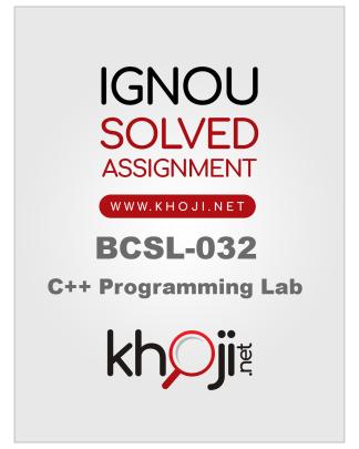 BCSL-032 Solved Assignment