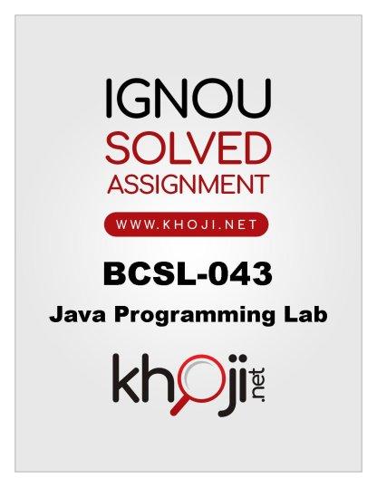 BCSL-043-Solved-Assignment-BCA-4th-Semester
