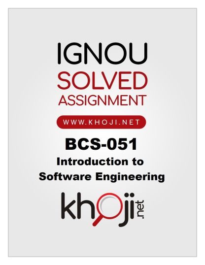 BCS-051 Solved Assignment 2019-20 Product Image