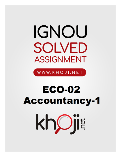 ECO-02 Solved Assignment 2019-2020 English Medium Product Image