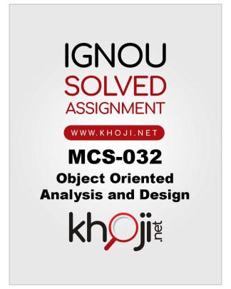 MCS-032 Solved Assignment 2019-2020 Product Image