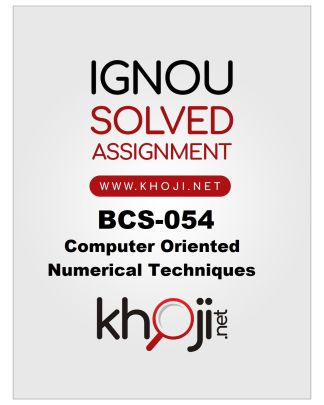 BCS-054 Solved Assignment Product Image