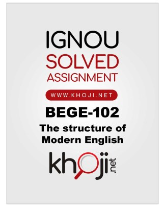 BEGE-102 Solved Assignment For IGNOU BDP/BA