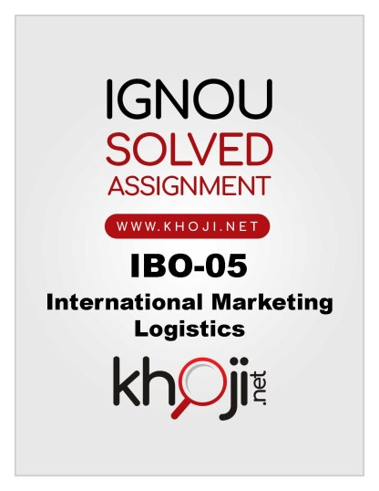 IBO-05 Solved Assignment For IGNOU