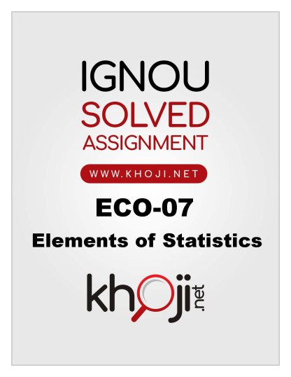 ECO-07 Solved Assignment in English Medium For IGNOU BCOM