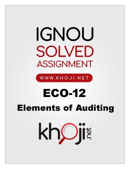 ECO-12 Solved Assignment in English Medium For IGNOU BCOM