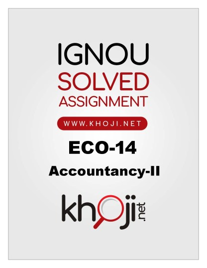 ECO-14 Solved Assignment in English Medium For IGNOU BCOM