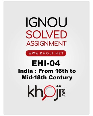 EHI-04 Solved Assignment English Medium For IGNOU BA BDP