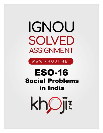 ESO-16 Solved Assignment 2019-20 IGNOU BDP BA