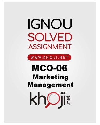 MCO-06 Solved Assignment For IGNOU MCOM English Medium