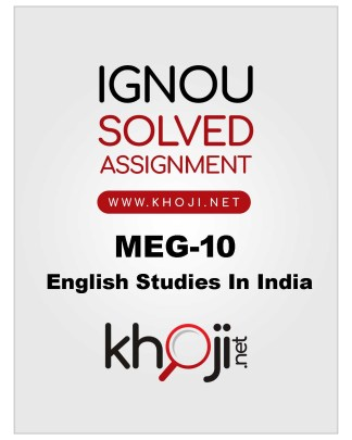 MEG-10 Solved Assignment 2019-2020 For IGNOU MA English