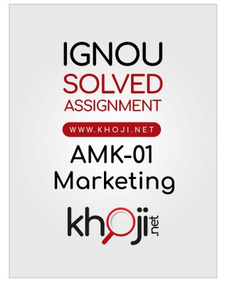 AMK-01 Solved Assignment in English Medium For IGNOU BCOM