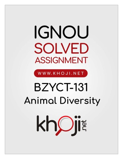 BZYCT-131 Solved Assignment English Medium IGNOU BSCG