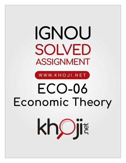 ECO-06 Solved Assignment in English Medium For IGNOU BCOM