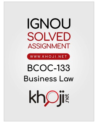 BCOC-133 Solved Assignment In English Medium For IGNOU BCOMG