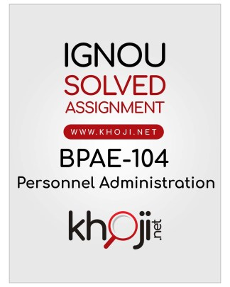 BPAE-104 Solved Assignment English Medium For IGNOU BDP BA