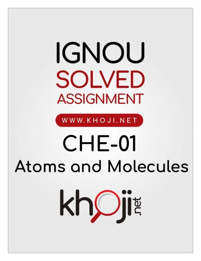 CHE-01 Solved Assignment 2020 English Medium IGNOU B.Sc