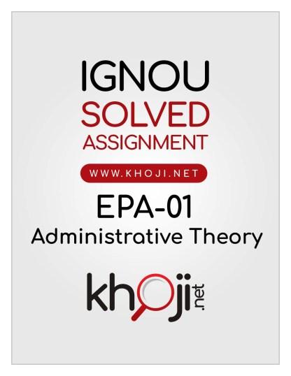 EPA-01 Solved Assignment Hindi Medium IGNOU BA BDP