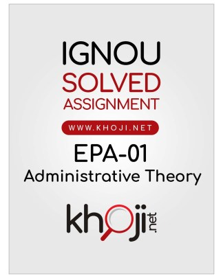 EPA-01 Solved Assignment Hindi Medium IGNOU BA BDP