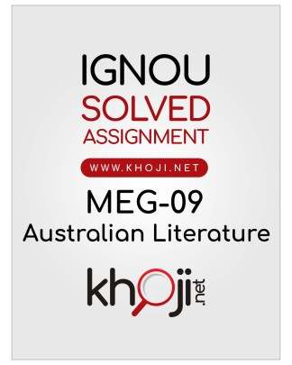 MEG-09 Solved Assignment For IGNOU MA English