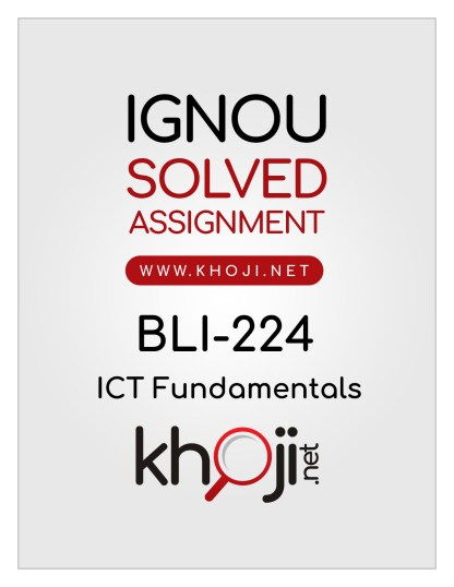 BLI-224 Solved Assignment In English Medium For IGNOU