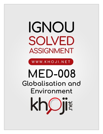 MED-008 Solved Assignment English Medium For IGNOU MA Political Science