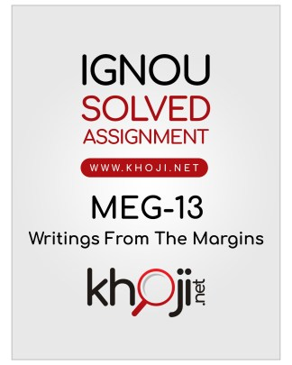 MEG-13 Solved Assignment For IGNOU MA English