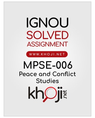 MPSE-006 Solved Assignment English Medium IGNOU MA Political Science