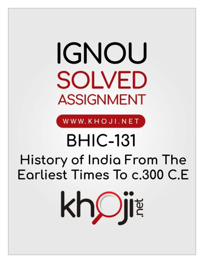 BHIC-131-Solved-Assignment-English-Medium-IGNOU-BAG-CBCS