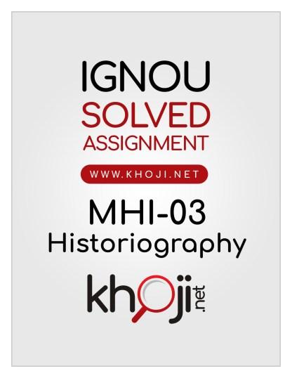MHI-03 Solved Assignment English Medium IGNOU MA History