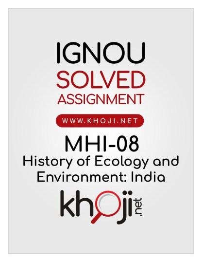 MHI-08 Solved Assignment English Medium IGNOU MA History
