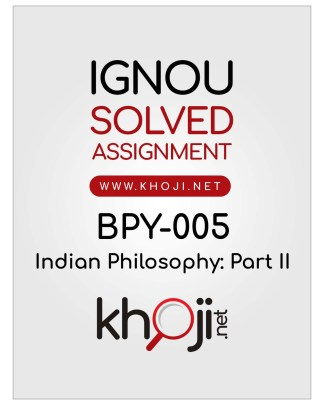 BPY-005 Solved Assignment IGNOU BDP