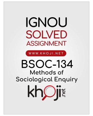 BSOC-134 Solved Assignment English Medium IGNOU BAG