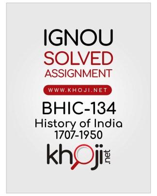 BHIC-134 Solved Assignment IGNOU BAG English Medium