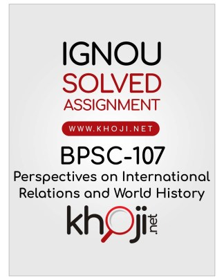 BPSC-107 Solved Assignment English Medium IGNOU BA Honours