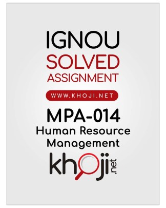 MPA-014 Solved Assignment in English IGNOU MA Public Administration