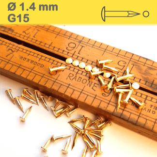 Vermessingt Gold Drahtstifte Dekonägel, Rundkopfstifte