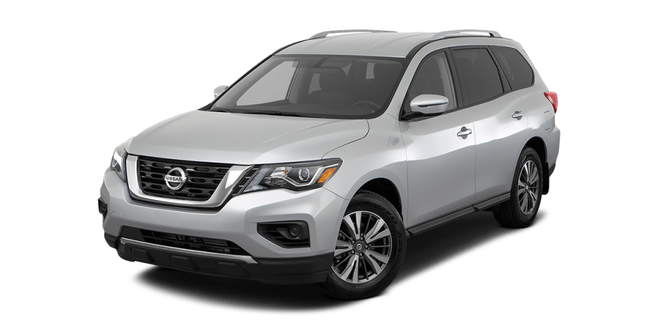 Nissan Pathfinder on white space