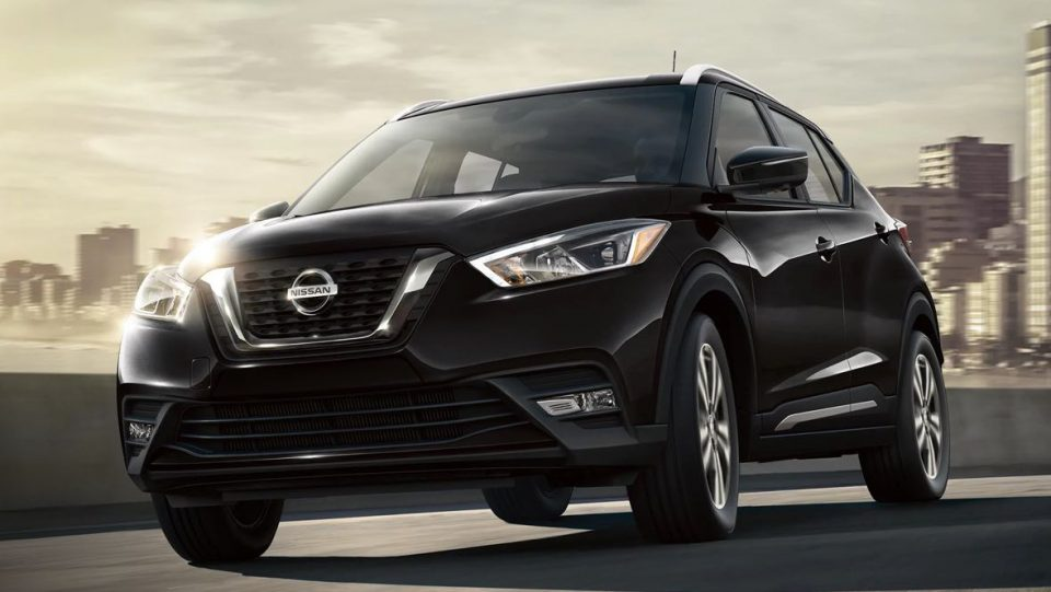 Exterior of a 2020 Nissan Kicks in black