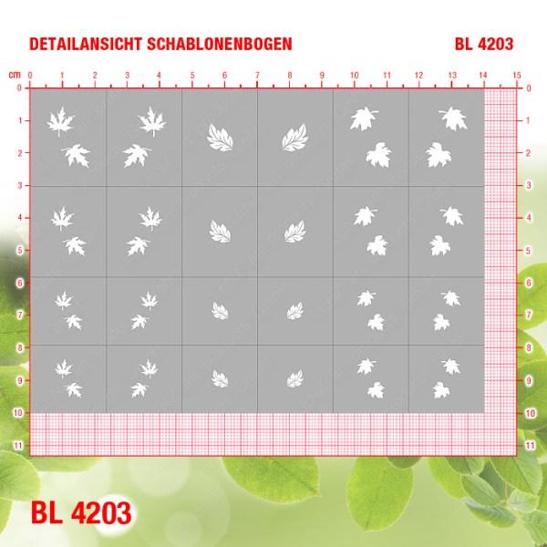 BL4203 Klebeschablonen