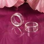 Basic-Ringe, transparent 3